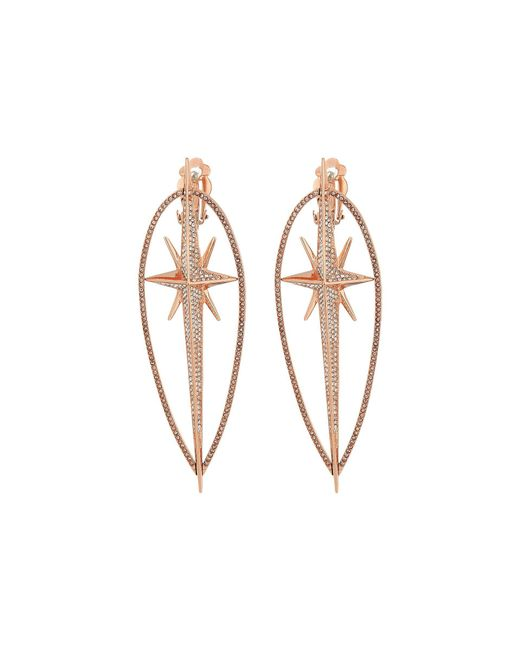 Michael Kors - Metallic Starburst Pave Statement Earrings - Lyst
