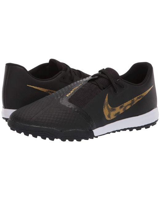 Nike - Phantom Venom Academy Tf (black metallic Vivid Gold) Men s Soccer  Shoes ... 1e64bad81