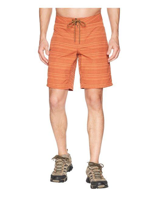 Toad&Co - Orange Cetacean Trunk (terra Cotta Stitch Print) Men's Swimwear for Men - Lyst