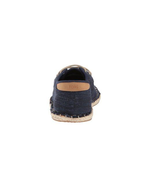 e401274ea87 ... TOMS - Blue Diego (navy white Noise Jersey) Men s Lace Up Casual Shoes  ...