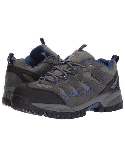 Propet - Gray Ridge Walker Low (brown) Men's Lace Up Casual Shoes for Men - Lyst