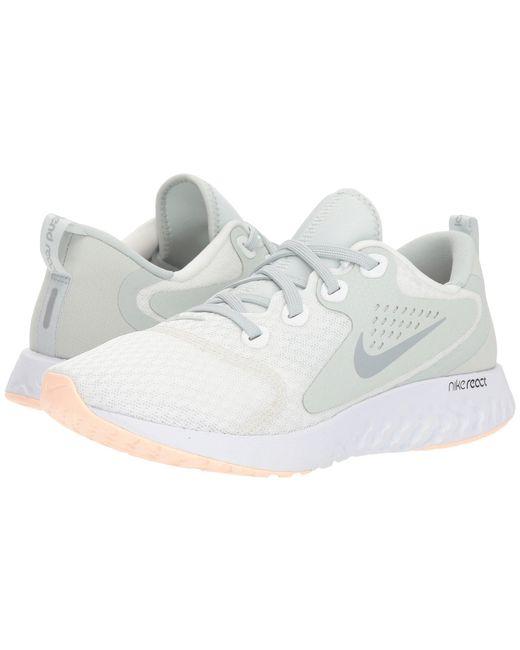 Nike - White Legend React (newsprint/royal Pulse/black/light Silver) Women's Running Shoes - Lyst