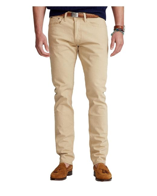 Polo Ralph Lauren Natural Sullivan Slim Stretch Jean In Hudson Khaki Stretch for men