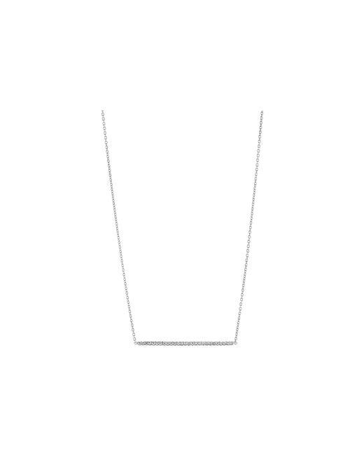 Roberto Coin | Metallic Tiny Treasures Bar Pendant Necklace With Diamonds | Lyst