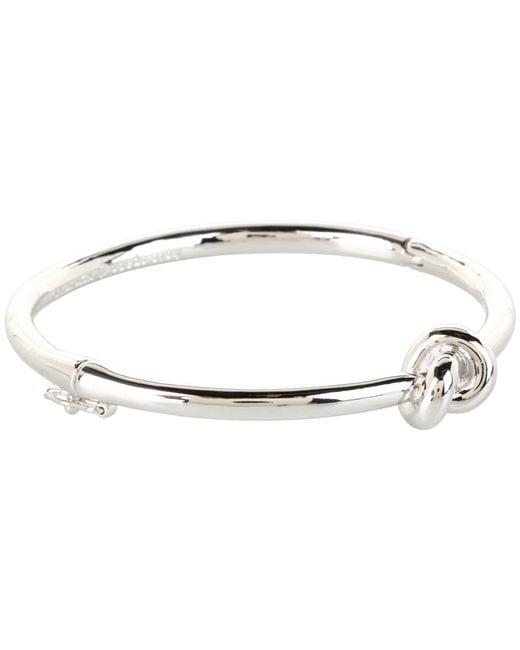 kate spade new york | Metallic Sailor's Knot Hinge Bangle | Lyst
