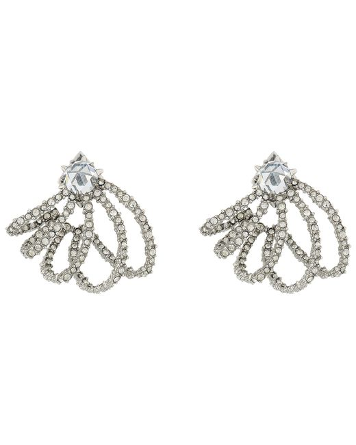 Alexis Bittar | Multicolor Crystal Lace Orbiting Post Earrings | Lyst