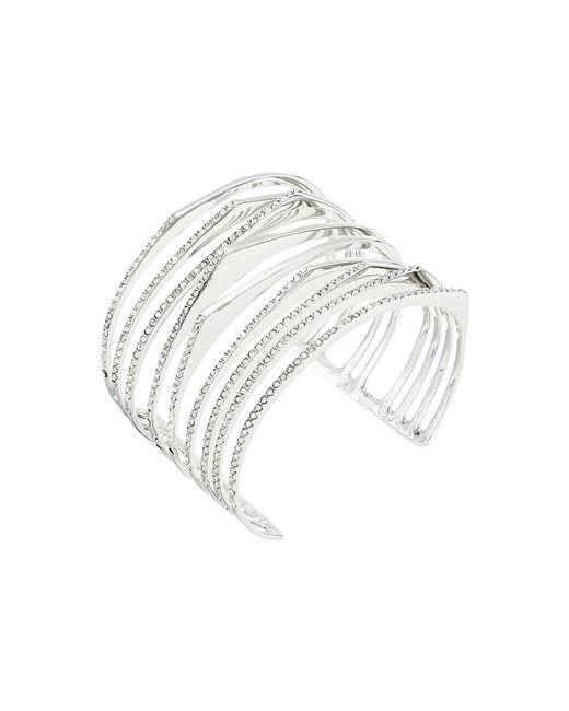 Alexis Bittar   Metallic Crystal Encrusted Origami Cuff Bracelet   Lyst