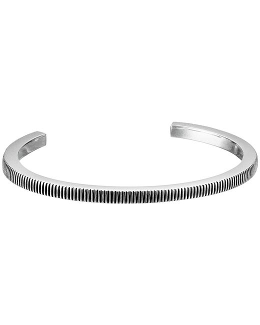 King Baby Studio | Gray Thick Coin Edge Cuff Bracelet | Lyst