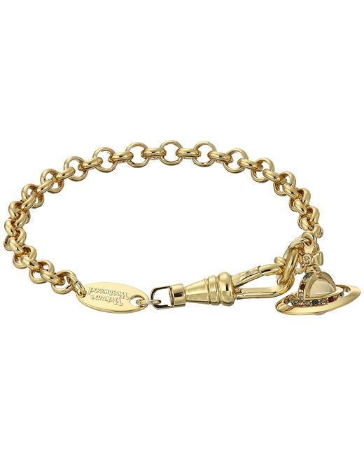 Vivienne Westwood   Metallic New Petite Orb Pendant Bracelet   Lyst