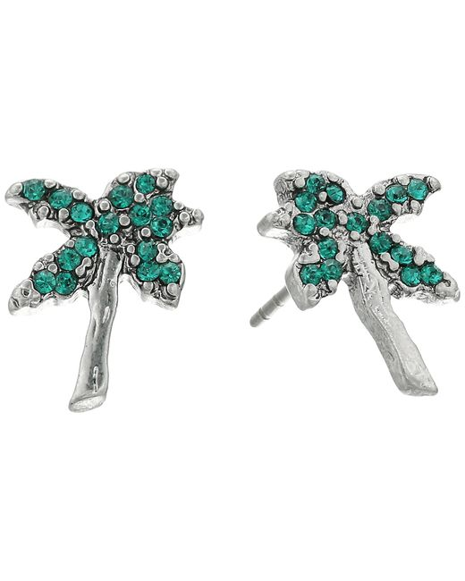 Marc Jacobs | Multicolor Charms Tropical Strass Palm Tree Studs Earrings | Lyst