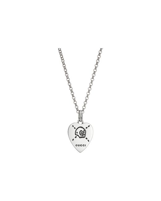 Gucci   Metallic 45cm Ghost Heart Necklace   Lyst
