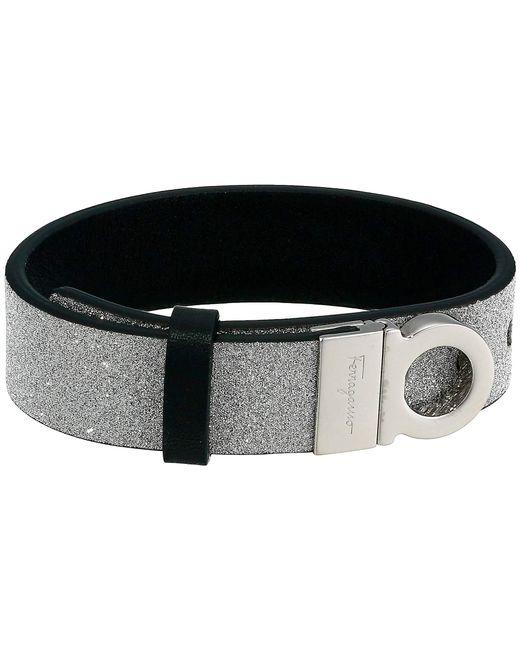 Ferragamo Metallic Reversible Gancini Bracelet