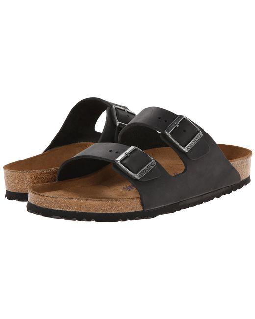 Birkenstock - Black Arizona Soft Footbed - Leather (unisex) - Lyst