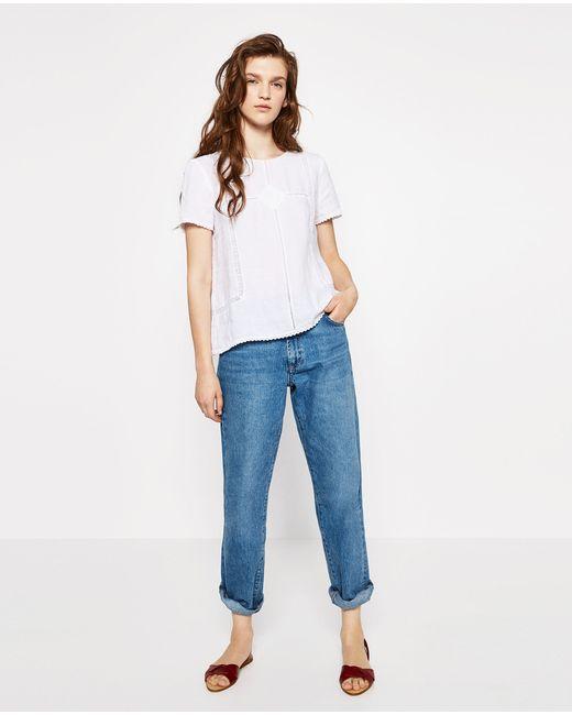 Zara Linen Blouse 113