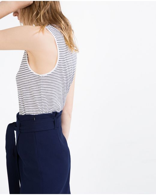 Zara | White Organic Cotton Top | Lyst