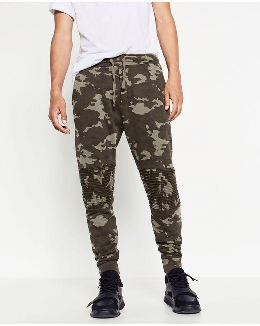 Popular Zara Camouflage Trousers For Men  Lyst