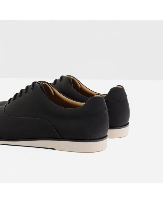 Elegant Zara Brushed Leather Oxford Shoe In Brown For Men Tobacco  Lyst