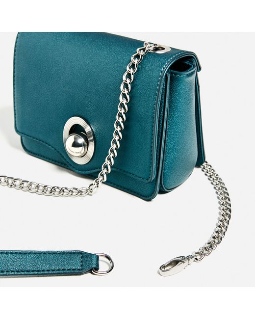 Zara Mix U0026 Match Mini Crossbody Bag In Blue (Petrol Blue) | Lyst