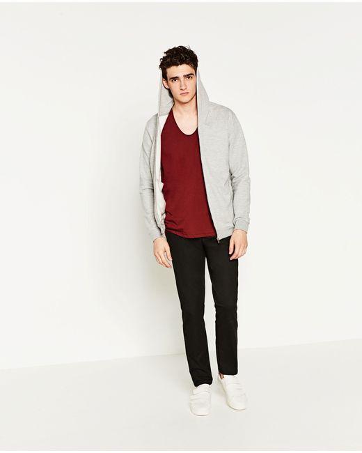Zara | Pink Deluxe T-shirt for Men | Lyst