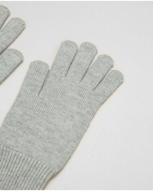 Zara Long Knit Gloves in Gray Lyst