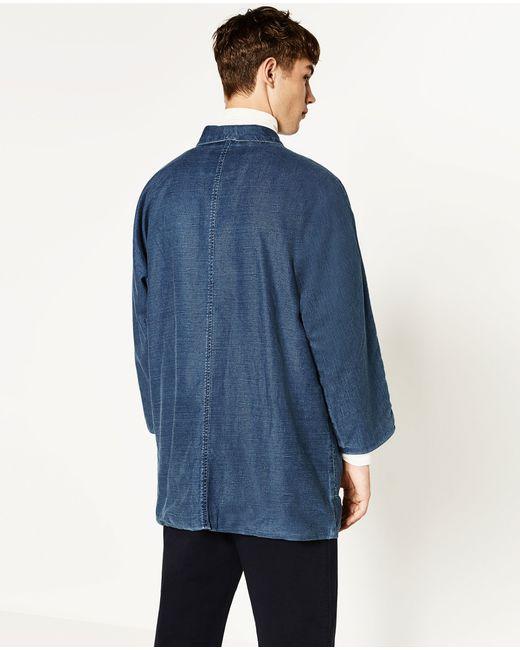 Zara Denim Kimono in Blue for Men   Lyst