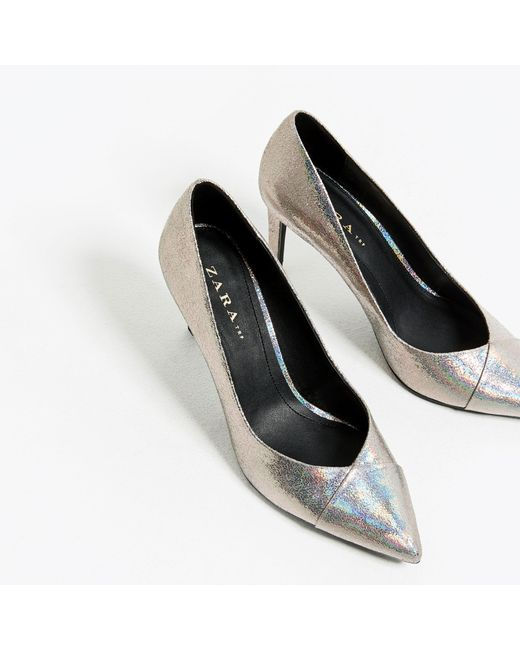 zara shiny high heel shoes in multicolor lyst