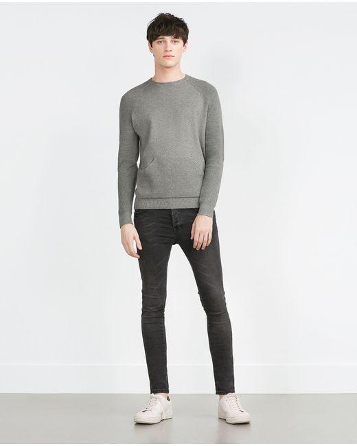 Zara | Blue Round Neck Sweater for Men | Lyst