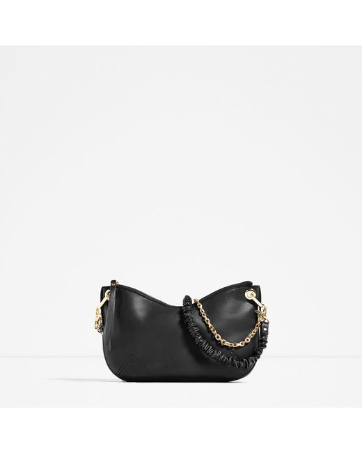 Zara Multi-strap Crossbody Bag In Black | Lyst