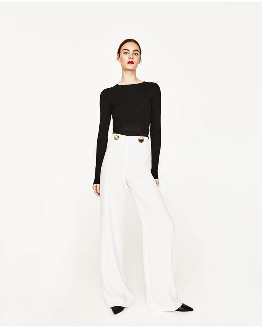 Zara | Multicolor Flowing Trousers | Lyst