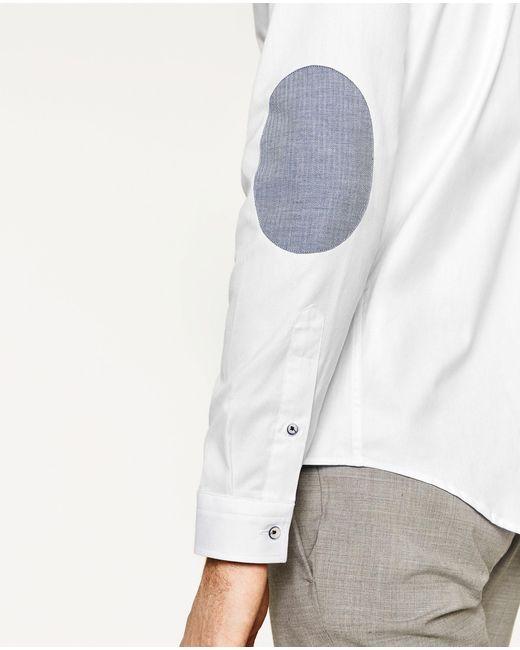 Zara Elbow Patch Shirt For Men Lyst