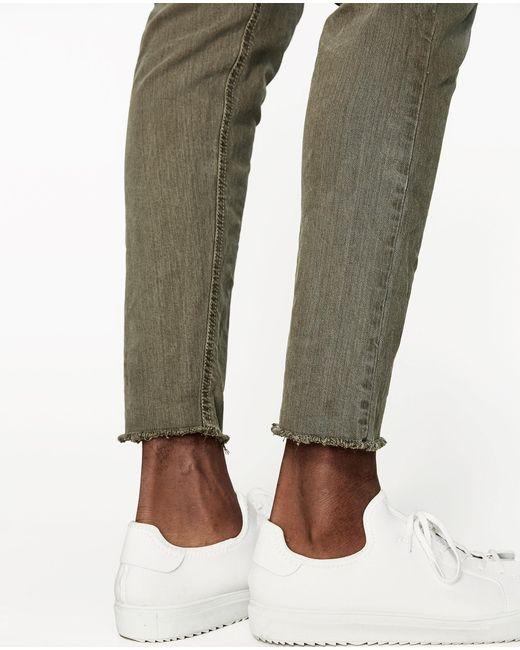 Zara Carrot Fit Bull Denim Jeans in Green for Men   Lyst