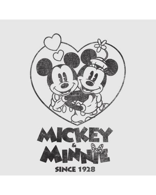 Women's Gray Minnie Mickey Since 1928 T shirt