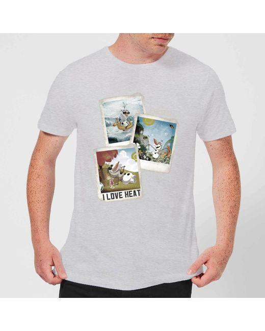 062063f2d51d78 Disney - Gray Frozen Olaf Polaroid T-shirt for Men - Lyst ...