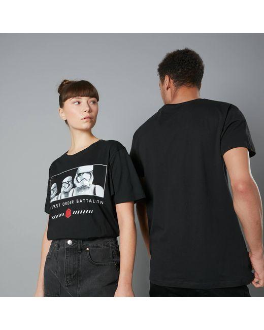 Star Wars Black The Rise Of Skywalker First Order Battalion Unisex T-shirt for men
