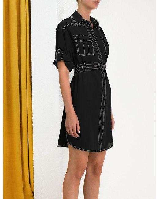 f0f6b7e4a0ddc ... Zimmermann - Black Utility Short Dress - Lyst ...