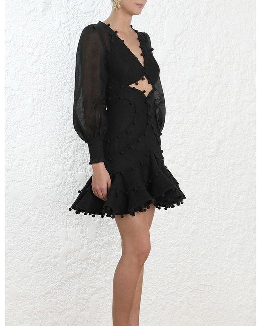 Lyst Zimmermann Corsage Bauble Mini Dress In Black Save 10