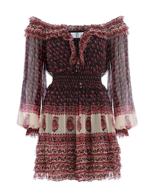 Zimmermann - Multicolor Jaya Stamp Frill Dress - Lyst