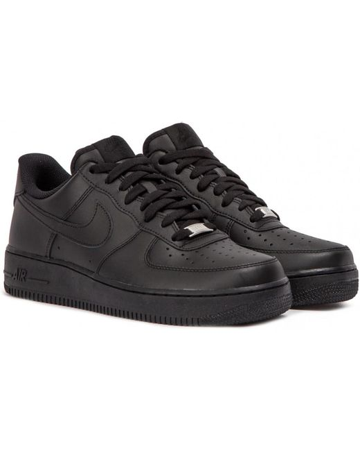 Nike Men's Black Air Force 1 High-top Trainers