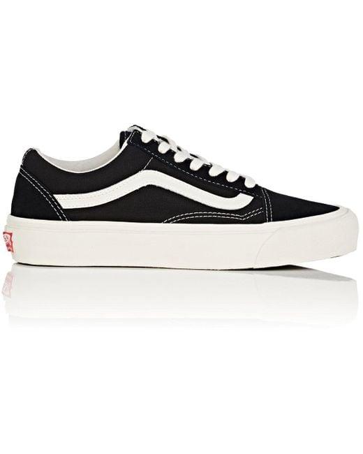 Vans Men's Black Og Old Skool Leather Sneakers
