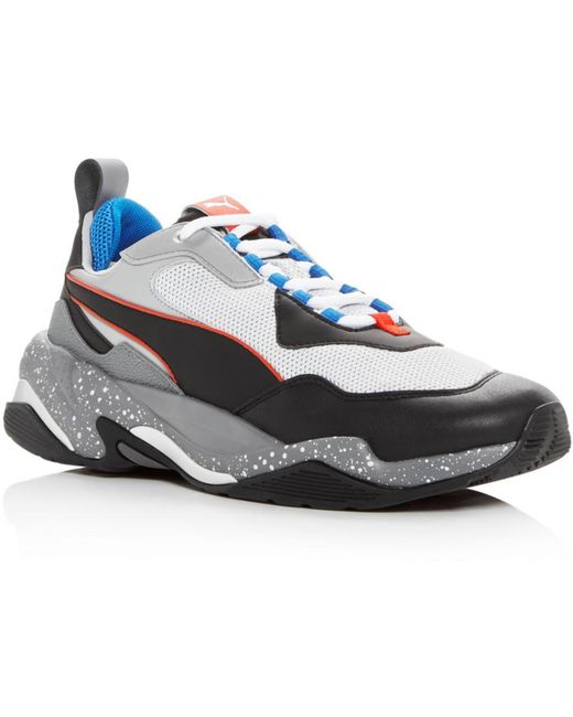PUMA White Men's Thunder Electric Lace Up Sneakers