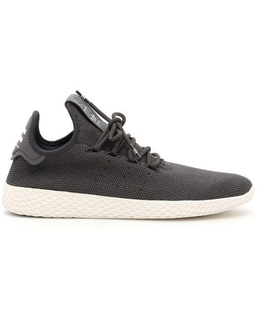 adidas Originals Men's Black Tennis Hu X Pharrell Williams Primeknit Sneakers