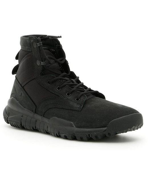 Nike Men's Black Sfb Field Boot Sneakers With Leather