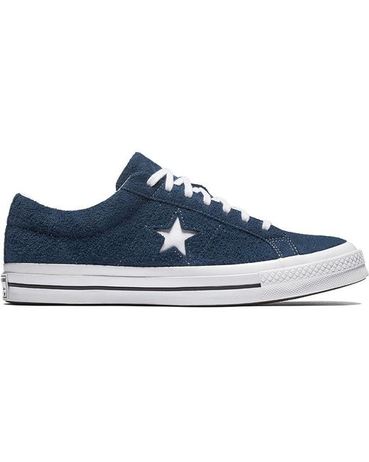 Converse Men's One Star Premium Suede Low Black