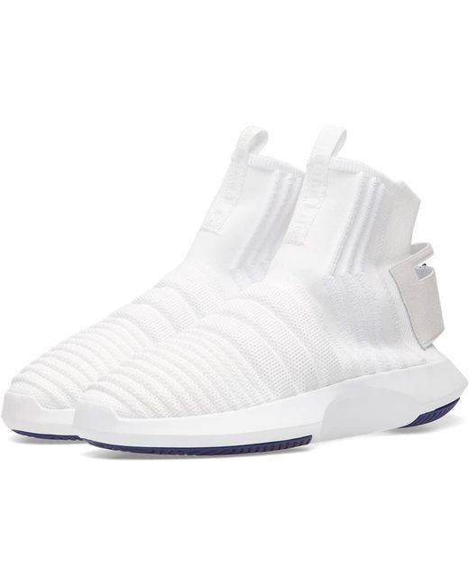 adidas Men's White Crazy 1 Adv Sock Pk