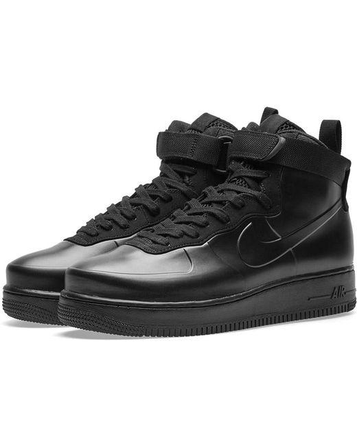 Nike Men's Black Air Force 1 Foamposite