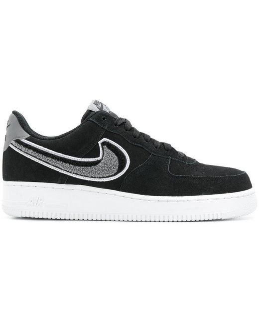 Nike Men's Black Logo Lace-up Sneakers