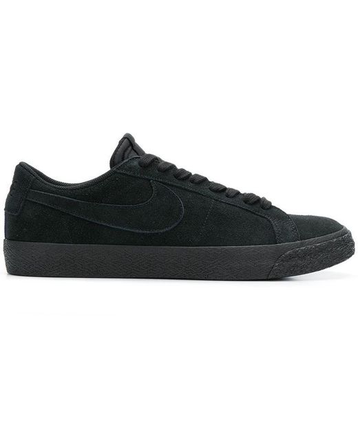 Nike Men's Black Logo Lace-up Sneakers