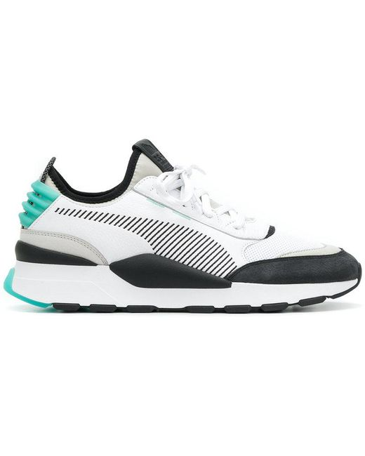 PUMA Men's White Rs-100 Re-invention Sneakers