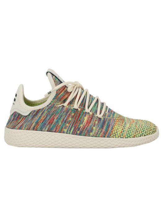 adidas Originals Men's Black Adidas Pharrell Williams Pw Tennis Sneakers Hu Pk