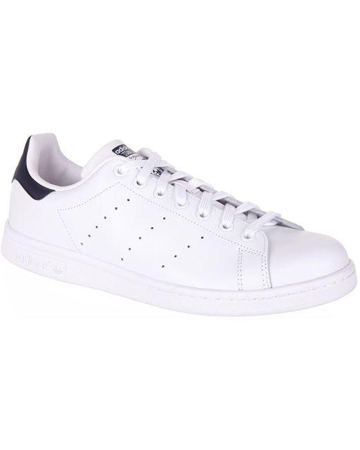 adidas Originals Men's White Stan Smith Sneakers